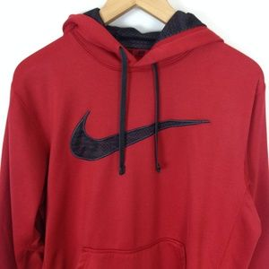 Nike Therma Fit Red Black Small Hoodie Sweatshirt